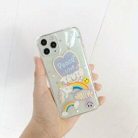 iphone11 ケース 韓国 カラフル キラキラ クリア 透明 個性的 シンプル おしゃれ iPhoneSE2 iPhone7 iPhone8 iphoneX iphoneXs iPhoneXR xsmax 11pro