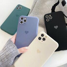 iphone11 ケース 韓国 TPU シンプルセンターハートケース ハート シンプル おしゃれ iphoneSE2 iPhone7 iphone8 iphoneX Xs Xr 11 11pro 12 12mini 12pro 12promax