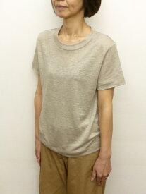 【20%オフ・セール!】マオメイド mao made 半袖 ニット Tシャツ プリミエル・リネン 無地 ボーダー 日本製 CP