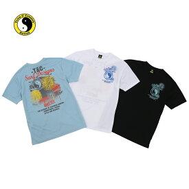 T&C (タウン&カントリー) 吸水速乾 Tシャツ 半袖 メンズ サーフ テニス ランニング フィットネス ロゴ カジュアル dm2121