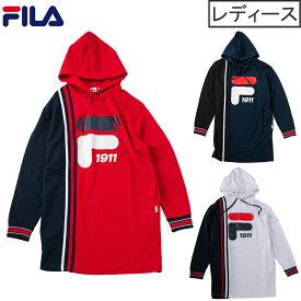 Fila (フィラ) ロングプルオーバーパーカーレディース プルロング フィットネス ランニング ジム テニス 運動 体育 かわいい カラー豊富 ロゴ fl5435