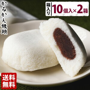 かるかん饅頭(10個入×2箱)【送料無料】 お中元 贈り物 お土産