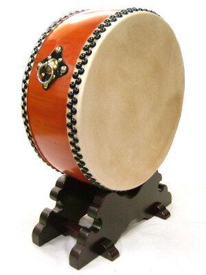 【舞台用太鼓】<水牛皮> 平太鼓 直径48cm 台付き