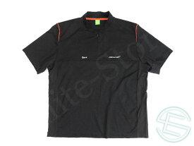 【送料無料】 マクラーレン 2009年 支給品 ヒューゴボス製 ポリエステル素材 ファクトリー用 ハーフZIP Tシャツ 4XL 4/5 (海外直輸入 F1 非売品USEDグッズ)