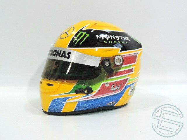 【送料無料】 ルイス・ハミルトン 2013年 メルセデス・AMG 直筆サイン入り 1/2 ミニヘルメット (海外直輸入 F1 非売品グッズ ベンツ メモラビリア)