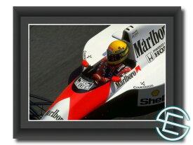 アイルトン・セナ 1990年 マクラーレン・ホンダ F1 A4サイズ 生写真【送料無料】(海外直輸入 F1 グッズ)