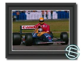 アイルトン・セナ & ナイジェル・マンセル 1991年 A4サイズ 生写真【送料無料】(海外直輸入 F1 グッズ)