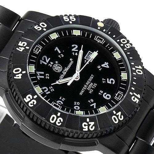 [正規品] スミス&ウェッソン Smith & Wesson スイス トリチウム ミリタリー腕時計 SWISS TRITIUM 357 SERIES COMMANDER WATCH BLACK SWW-357-BSS [あす楽] [ ラッピング無料 送料無料 ]