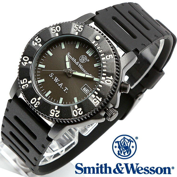 [正規品] スミス&ウェッソン Smith & Wesson ミリタリー腕時計 SWAT WATCH BLACK SWW-45 [あす楽] [ ラッピング無料 送料無料 ]