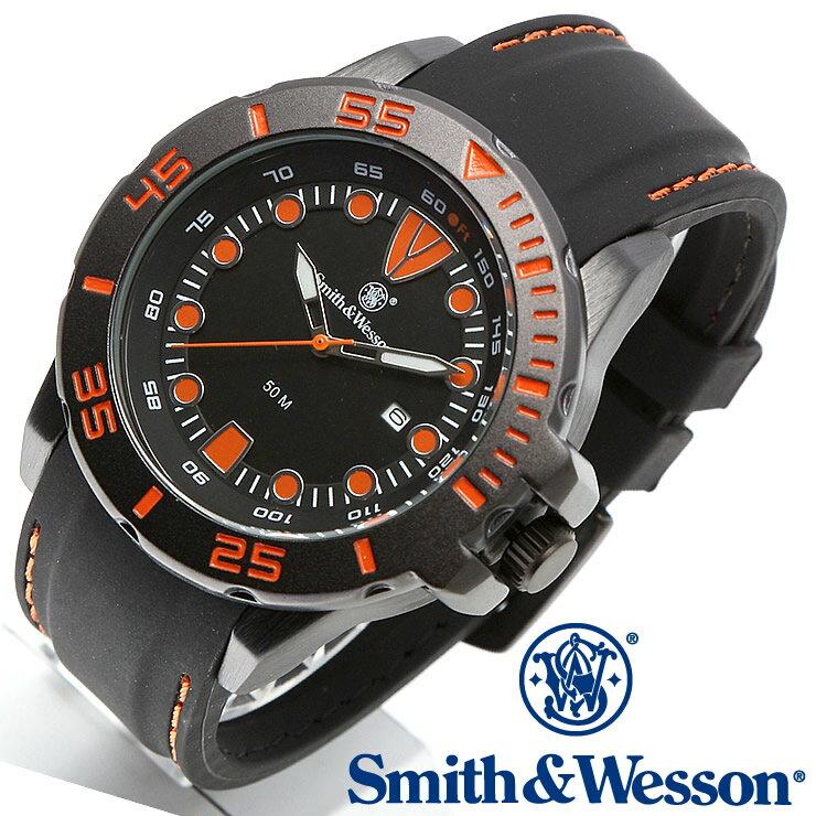 [正規品] スミス&ウェッソン Smith & Wesson ミリタリー腕時計 SCOUT WATCH ORANGE/BLACK SWW-582-OR [あす楽] [ ラッピング無料 送料無料 ]