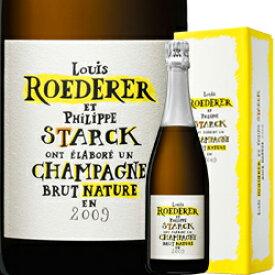 ワイン スパークリング シャンパン 白 発泡 2009年 ルイ・ロデレール ブリュット・ナチュール・フィリップ・スタルクモデル[ボックス付] / ルイ・ロデレール フランス シャンパーニュ/ 750ml