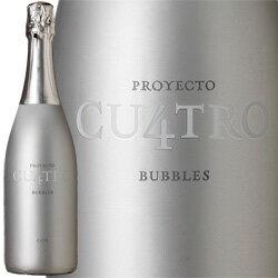 【最短8月21日出荷】ワイン スパークリング 白 発泡 [NV] プロジェクト・クワトロ・カヴァ / クロ・モンブラン スペイン コンカ・デ・バルベラ / 750ml