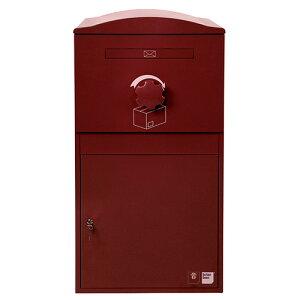 宅配ボックス ポスト 一体型 brizebox(ブライズボックス) EXラージサイズ ボルドー 英国発のオシャレな戸建用宅配ボックス