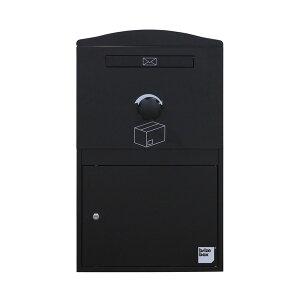 宅配ボックス ポスト 一体型 brizebox(ブライズボックス) ラージサイズ ブラック 英国発のオシャレな戸建用宅配ボックス
