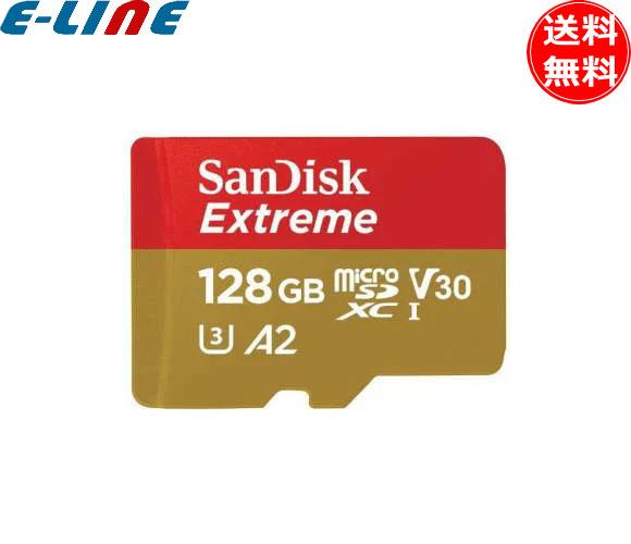 サンディスク エクストリーム microSDXC UHS-I 128GB(SDSQXAF-0128G-JN3MD) アクションカメラとドローンにも最適 最大書込み速度90MB/秒 レスキュープロデラックスソフトウェアで簡単にファイルを復元 極限の環境下で使える耐久性 「送料無料」「smtb-F」