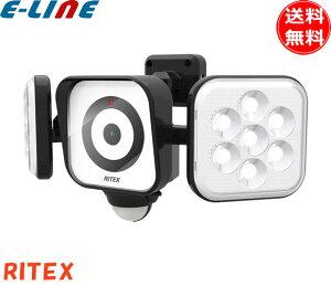 ムサシ RITEX ライテックス C-AC8160 LEDセンサーライト 防犯カメラ8Wx2灯 センサーライトx防犯カメラ ライトで威嚇・カメラで記録「送料無料」