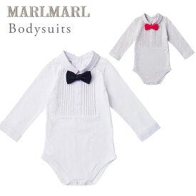 f7d317fafd8f9 マールマール ボディースーツ MARLMARL bodysuits(70-80cm) ピンタックホワイト   ピンタックグレー