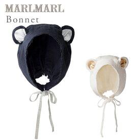マールマール ボンネ MARLMARL bonnetベアネイビー/ベアホワイト【マールマール 帽子】【ベビー 帽子】【帽子】【ボンネ】【ボンネット】【ヘッドウェア】【出産祝い 女の子】【出産祝い 男の子】【ギフト】【即納】