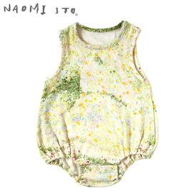 ナオミイトウ NAOMI ITO わたガーゼ ノースリーブロンパース / ibuki (70-80cm) 【ロンパース】【ノースリーブ】【ベビー ウェア】【ベビー服】【ギフト】【出産祝い】【日本製】【即納】