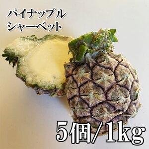 国産 皮付きパインシャーベット ハーフカット 5個 1kg 冷凍