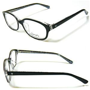 メガネ 眼鏡 シンプルなのに個性的!セルフレーム☆標準薄型1.55球面度付きレンズセットSY-1008-c1 メガネフレーム レンズセット
