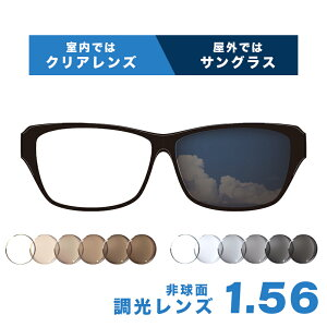 【送料無料】メガネレンズ レンズ交換 ItoLens フォト調光レンズ交換カラー 1.56非球面設計 度付きレンズ【メガネレンズ交換】 メガネ レンズ交換 度付き