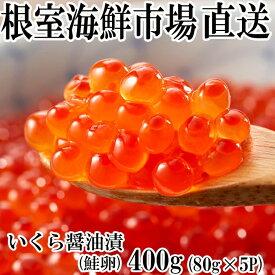 【ふるさと納税】いくら醤油漬け(鮭卵)80g×5P A-11005