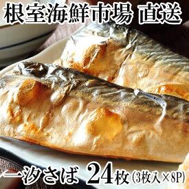 【ふるさと納税】根室海鮮市場<直送>一汐さば半身24枚 A-28096