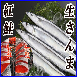 【ふるさと納税】甘塩紅鮭5切×2P、生さんま5尾×2P A-36017