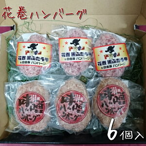 【ふるさと納税】白金豚と黒ぶだう牛 ハンバーグ・味噌deハンバーグ 6個 セット 豚肉 牛肉 ブランド肉