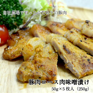 【ふるさと納税】豚肉ロース 肉味噌漬け 50g×5枚入(250g)一関ミート