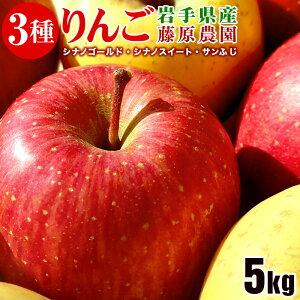 【ふるさと納税】藤原農園のりんご3種の詰め合わせ『シナノスイート・シナノゴールド・サンふじ』5kg