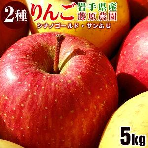 【ふるさと納税】藤原農園のりんご2種の詰め合わせ『シナノゴールド・サンふじ』5kg