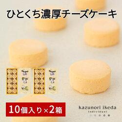 ひとくちサイズ濃厚チーズケーキ10個入り20個