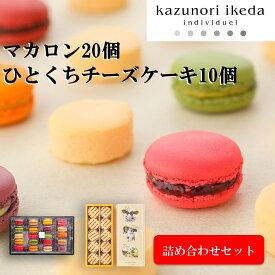【ふるさと納税】kazunori ikeda individuel マカロン 20種類 20個入り ひとくち濃厚チーズケーキ 10個入り