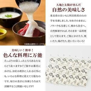 【ふるさと納税】60P3203たっぷり2キロ!冷凍とろろセット