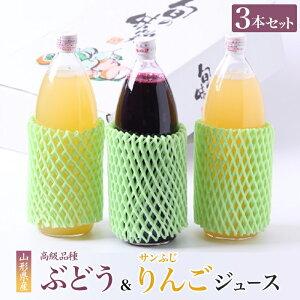 【ふるさと納税】高級ぶどうジュース&サンふじりんごジュース詰め合わせセット F2Y-2071