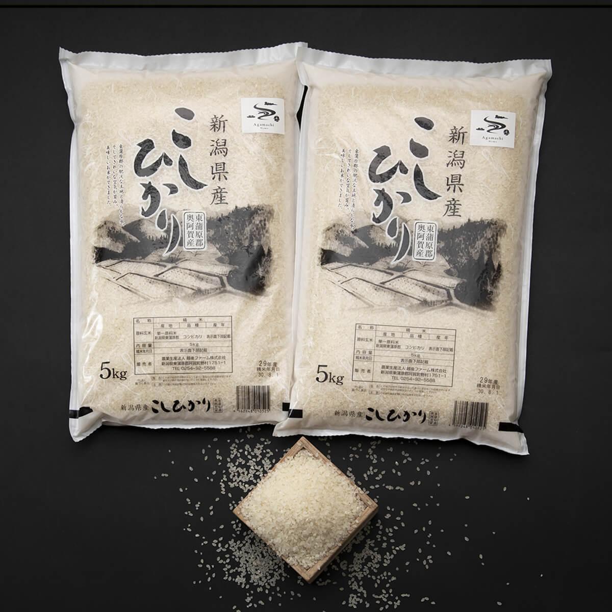 【ふるさと納税】新潟県奥阿賀産こしひかり10kg(5kg×2袋)