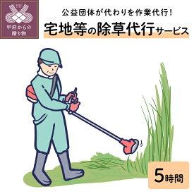 【ふるさと納税】除草作業 5時間 代行 住宅 庭 k044-001