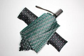【ふるさと納税】 日傘 晴れ雨兼用 ミントグリーン 紳士 ネクタイ柄【紳士日傘】 晴雨兼用・ミントグリーン 送料無料
