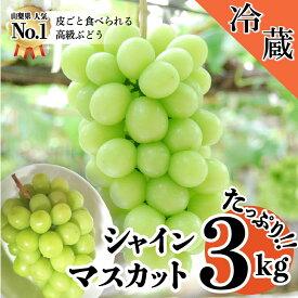 【ふるさと納税】 シャインマスカット 2kg超え3kg 山梨県産 高級 種無し フルーツ ブドウ 送料無料