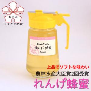 【ふるさと納税】【大垣産】希少な『れんげ蜂蜜』(液だれしにくいパッカー容器入:450g)