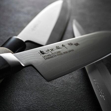 【ふるさと納税】H17-09濃州正宗作ダマスカスペティナイフ