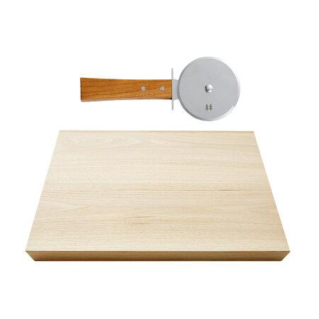 【ふるさと納税】やさしい天然木欅ハンドルのmorinokiピザカッター&カッティングボード大H33-07