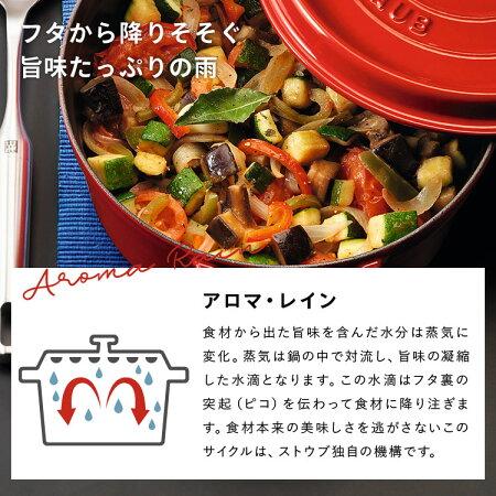 【ふるさと納税】H50-08STAUBLaCocotteRound18cm(チェリー)
