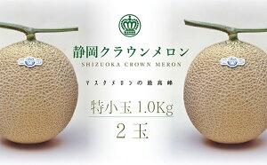 【ふるさと納税】クラウンメロン 特小玉 2玉入  【果物類・フルーツ・マスクメロン】