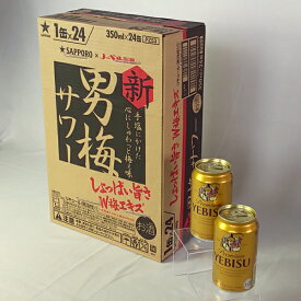 【ふるさと納税】a12-023 男梅サワー350ml缶×1箱+サッポロヱビスビール2本