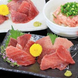 【ふるさと納税】a12-039 南鮪赤身+粗挽ねぎとろセット約750g マルコ水産