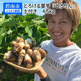 【ふるさと納税】とろける里芋『とろりん』 土付き4.5kg H097-002