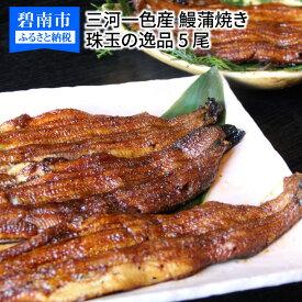 【ふるさと納税】三河一色産 鰻蒲焼き 珠玉の逸品 5尾 H106-003